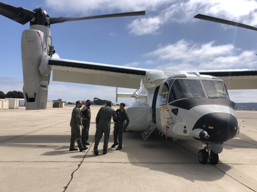 pilots that brought the first Osprey to NASNI