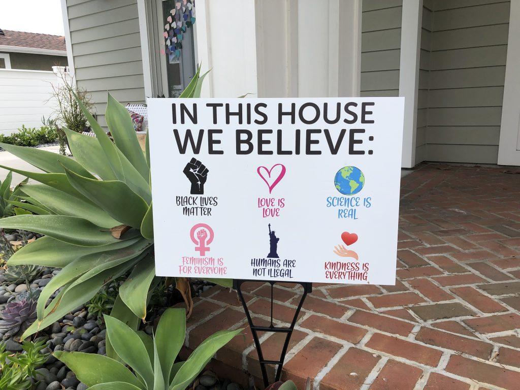 We Believe sign