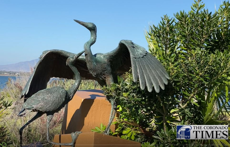 """""""Sheltering Wings"""" by sculptor Christopher Slatoff"""