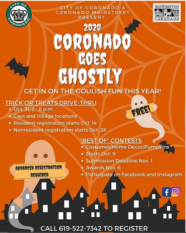 Coronado Orange Halloween 2020 Coronado Goes Ghostly 2020 | Coronado Times