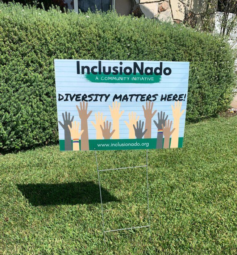 InclusioNado lawn sign