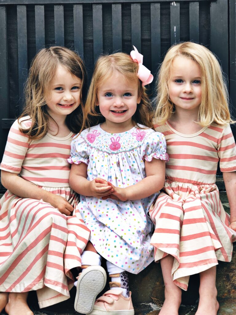 Evie Hardin with her sisters