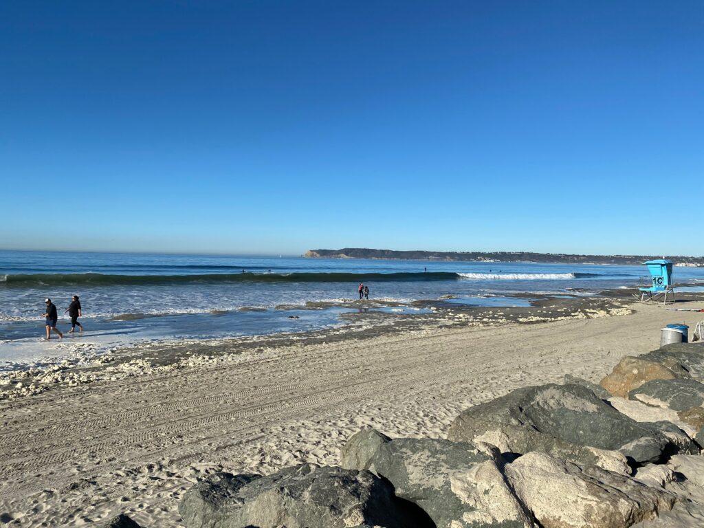 King tides beach ocean