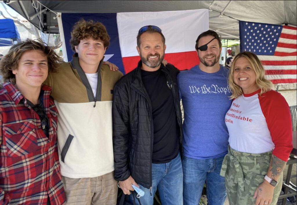 Bartell family with Congressman Dan Crenshaw