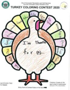 turkey coloring