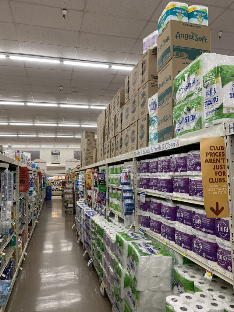 paper products aisle