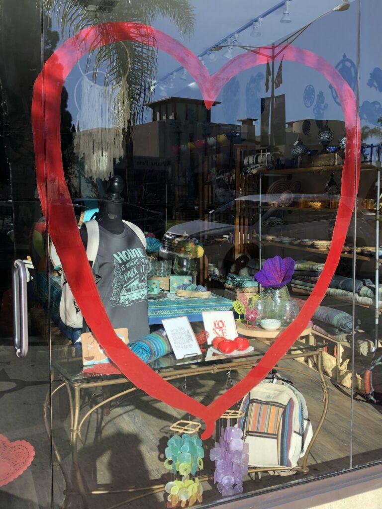 Fair Trade Decor front window heart