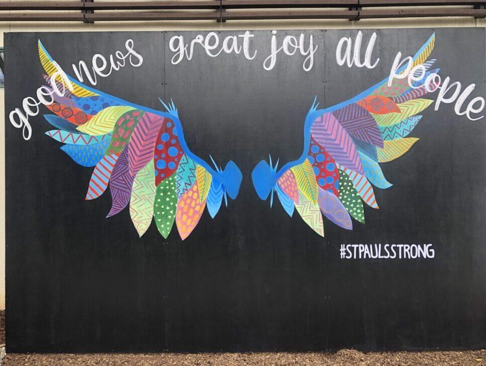 Wing Mural at St. Pauls United Methodist Church