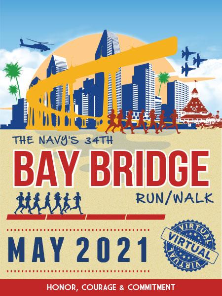 Navys 34th Bay Bridge Run May 2021 logo