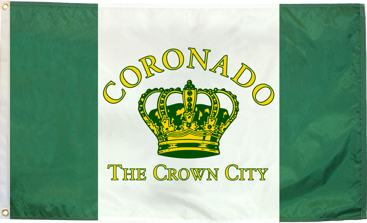 Local Business Offers Coronado Flags Mugs License Plate