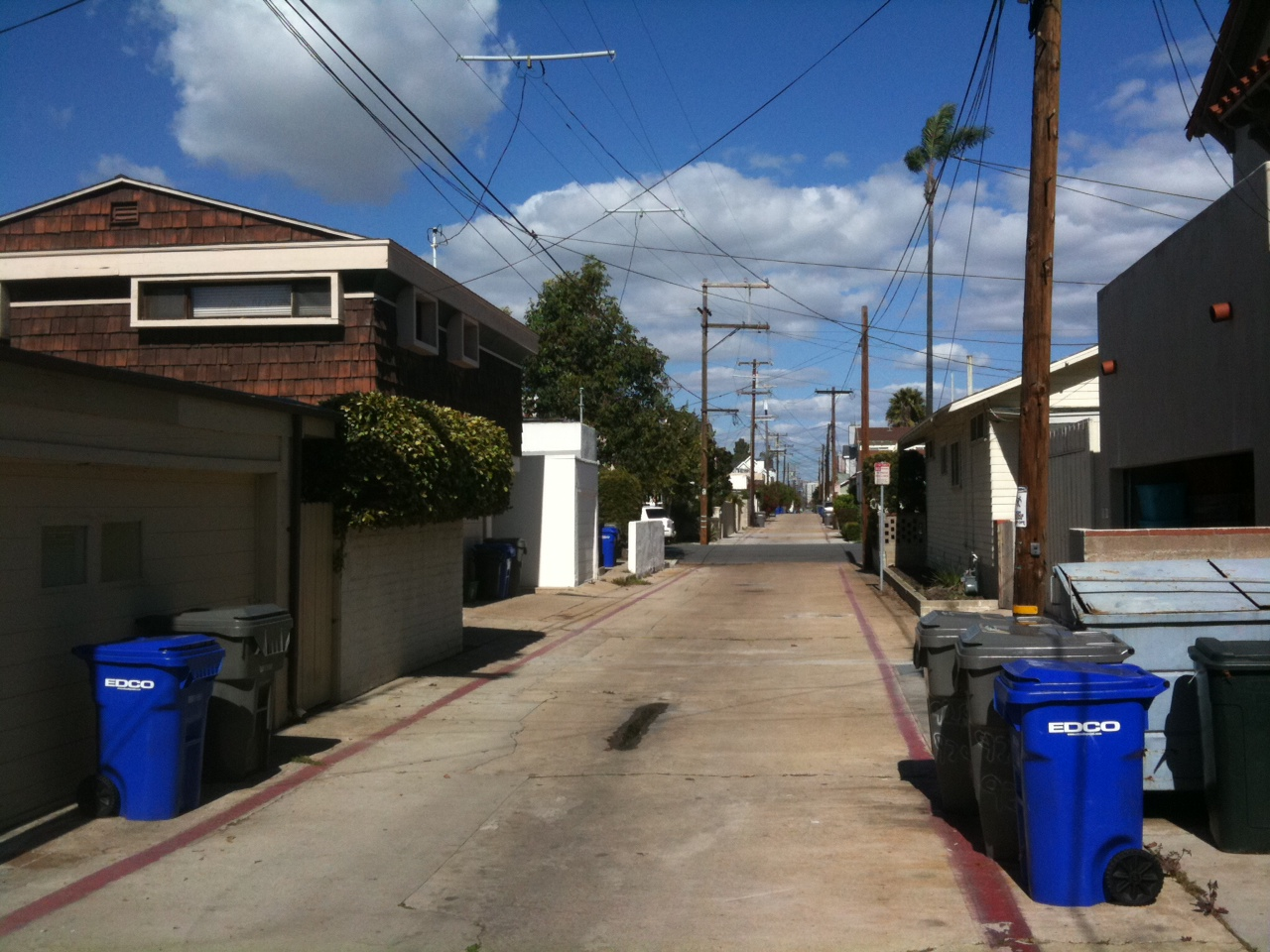 Many Streets In Coronado Have Alleys Behind Homes. In Most Cases, They Are  Primarily Used To Enter Into Oneu0027s Garage Or Store Your EDCO Trash Cans.