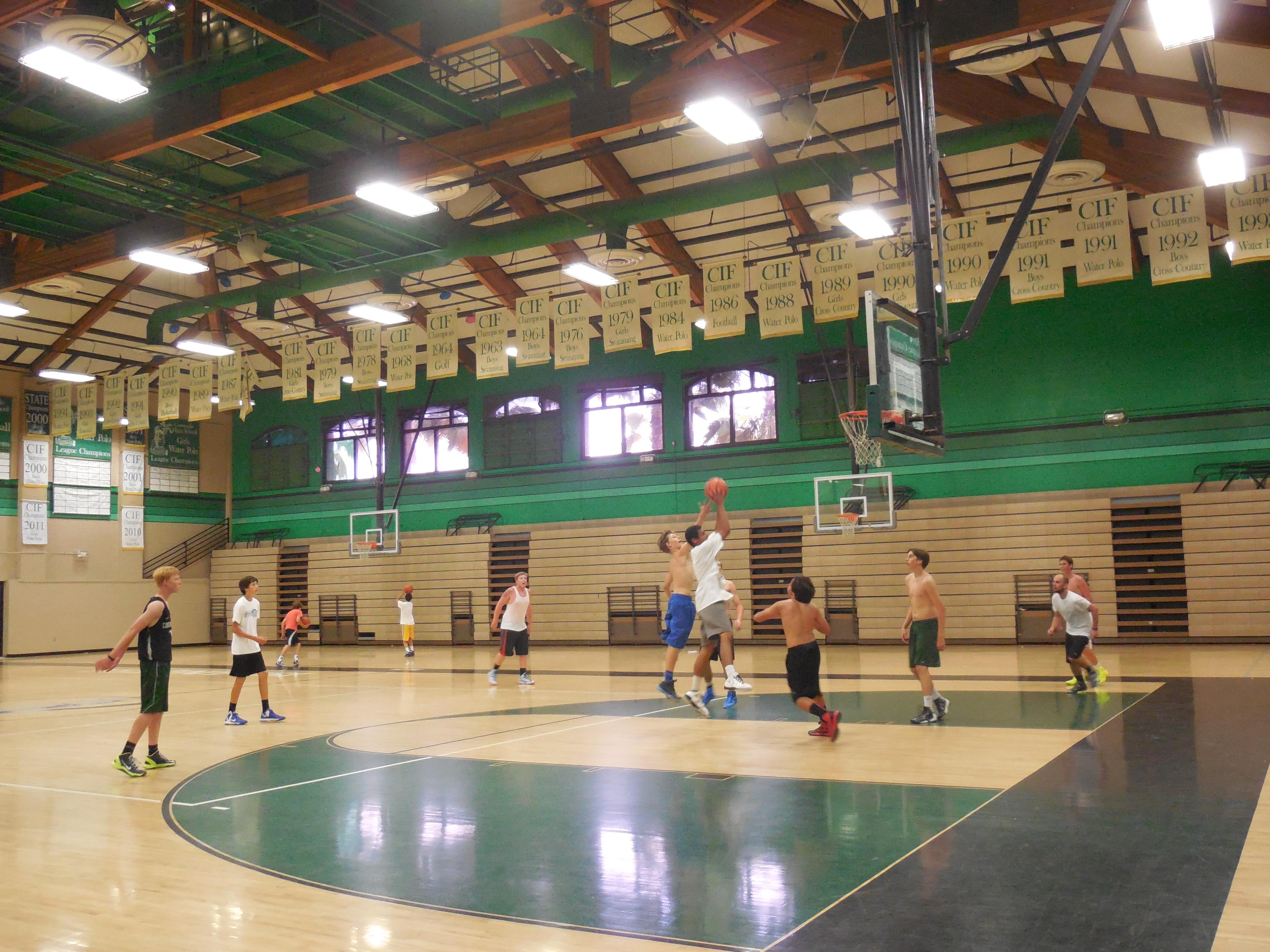 Meet j d laaperi chs basketball coach coronado times for How much to build a basketball gym