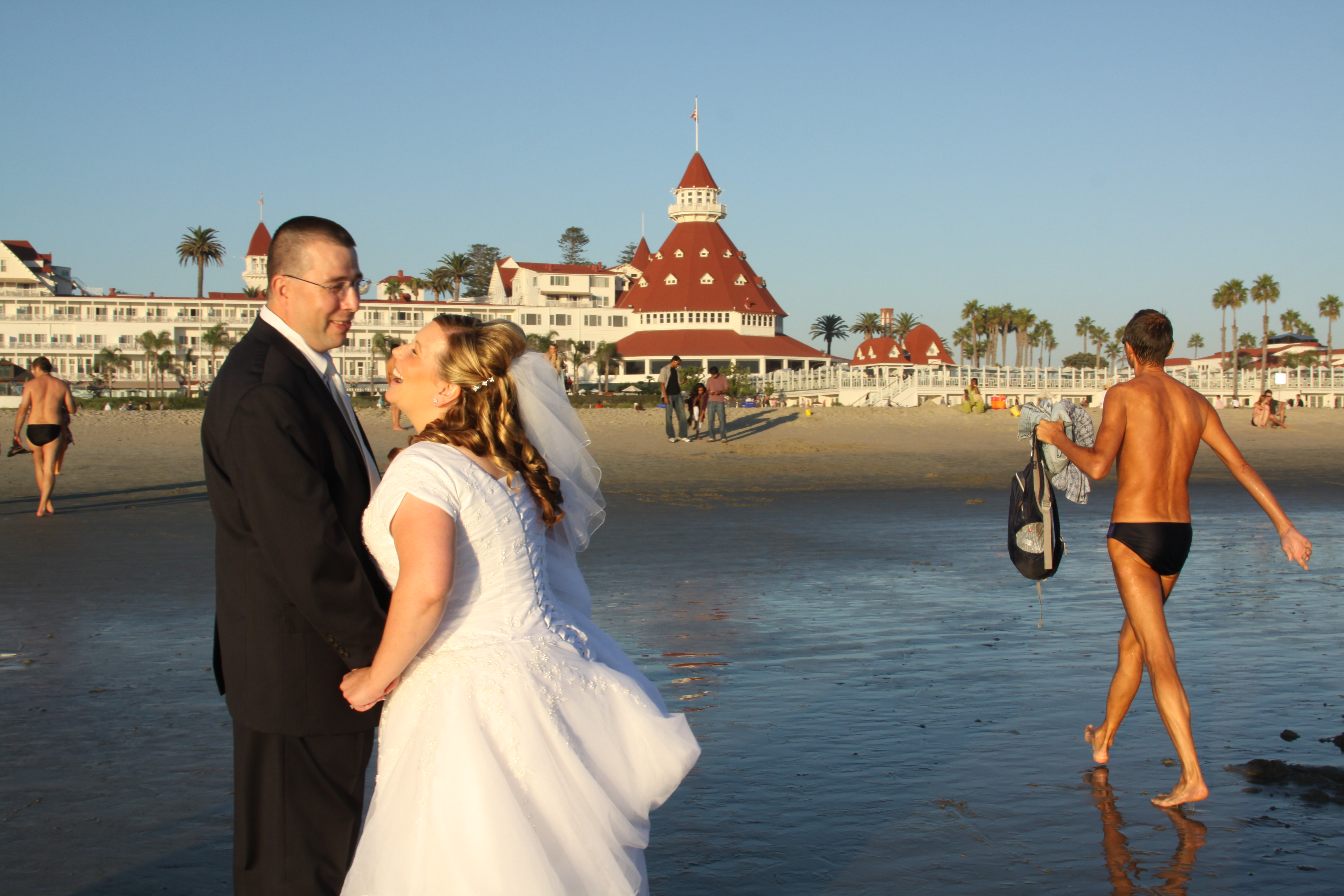 Just Eloped Double Sdo Sighting Destination Beach Wedding