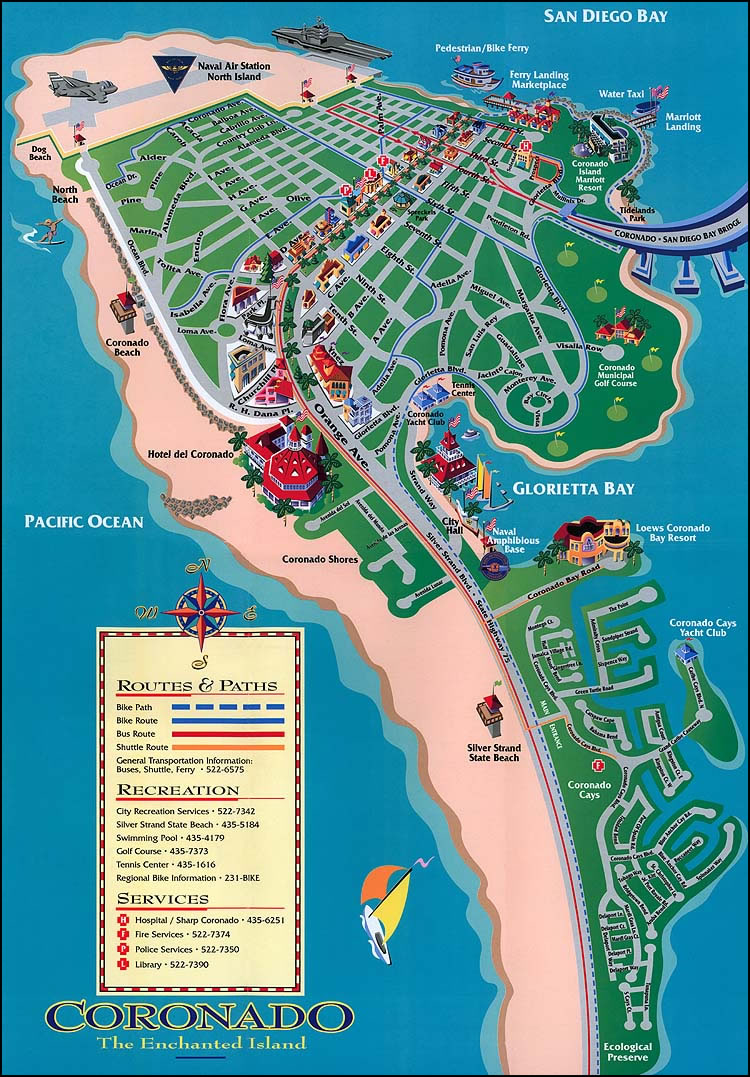 Drawing Map Of Coronado Coronado Times